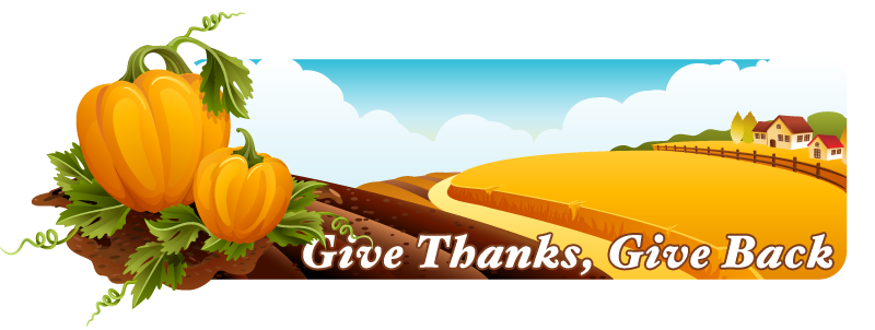 Give thanks, Give back